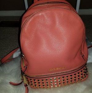 Micheal Kors Medium (Peach color)  Rhea backpack